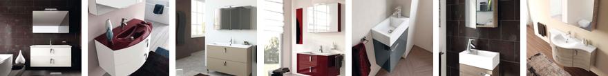 Beispiele für italinische Badmöbel-Kombinationen aus unserem Verkaufssortiment