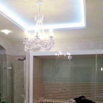 Einbau von Clipso Spanndecke im Bad