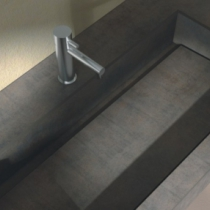 Montage unterfahrbarer Waschplatz