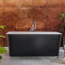 Freistehende schwarze Badewanne einbauen in Halle Saale