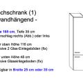 Hochschrank Modell 1 (25 cm oder 35 cm x 35 cm x 165 cm; wandhängend)