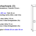 Hochschrank Modell 3 (25 cm oder 35 cm x 35 cm x 201 cm; bodenstehend)