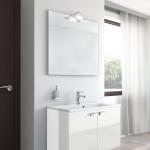 Badmöbel-Kombination u.a. erhältlich mit Möbelfront HOCHGLANZ WEISS (glatte Oberfläche)