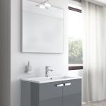 Badmöbel-Kombination u.a. erhältlich mit Möbelfront HOCHGLANZ ANTHRAZIT (glatte Oberfläche)