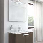 Badmöbel-Kombination u.a. erhältlich mit Möbelfront MATT MOKKA (glatte Oberfläche)
