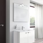 Badmöbel-Kombination u.a. erhältlich mit Möbelfront GLATTE OBERFLÄCHE - MATT WEISS