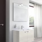 Badmöbel-Kombination u.a. erhältlich mit Möbelfront HOLZOPTIK / HOLZSTRUKTUR - LÄRCHE HELL