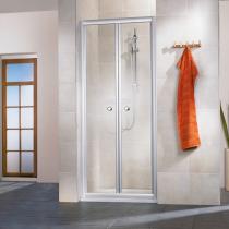 Beispielfoto  für ebenerdige Dusche mit 2-teiliger Klapptür in der Raumnische