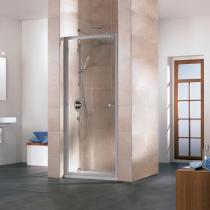 Sanitärinstallateur in Halle/Saale: Ebenerdige Dusche aus Echtglas mit Drehpunkttür