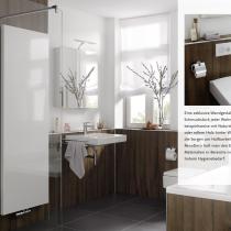 Beispielfoto für Badgestaltung mit XXL-Platten in Holzdekor
