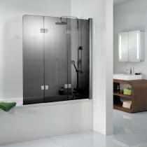 Einbau von Tür auf Badewanne: Badewannenaufsatz aus Glas