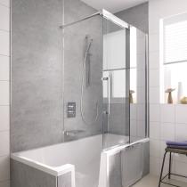 Beispielfoto für Badewannenaufsatz mit Schiebetür, 2-teilig