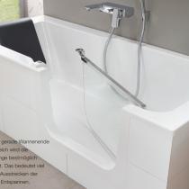 Badewanne mit Tür - Produktvorteil 2: Großzügige Wanne mit viel Platz