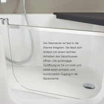 Badewanne mit Tür - Produktvorteil 3: Sicherer Einstieg und Ausstieg mit Einhandbedienung
