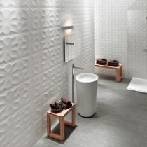 Italienische Badezimmerfliesen: Badezimmerfliesen im 3D Wall Design (Strukturfliesen)
