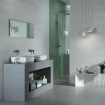 Badezimmer mit italienischen Designerfliesen, Home bathroom 3D WALL DESIGN in Halle Saale kaufen und verlegen lassen
