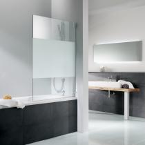 Beispielfoto von 1-teiligem Badewannenaufsatz aus 8 mm Sicherheitsglas (verfügbar in bis zu 100 cm Breite)